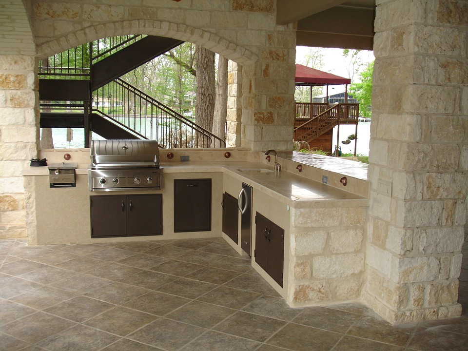 Stone Cooking Outdoor Kitchen Masonry Copper