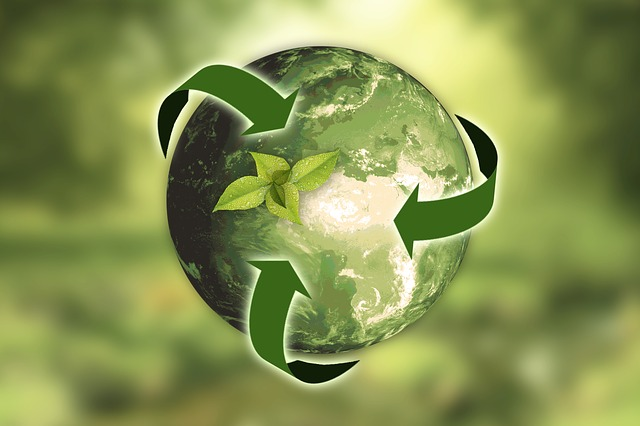 green earth with recycling arrows